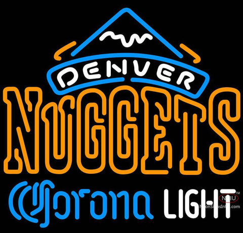 Corona Light Neon Logo Denver Nuggets NBA Neon Sign  7