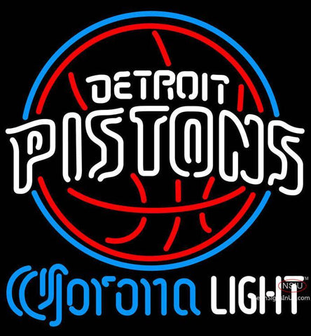 Corona Light Neon Logo Detroit Pistons NBA Neon Sign  7