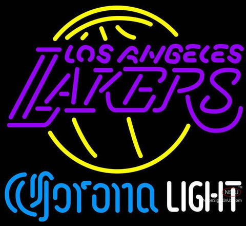 Corona Light Neon Logo Los Angeles Lakers NBA Neon Sign  7