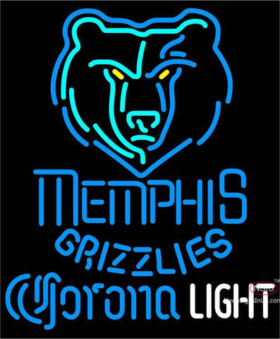 Corona Light Neon Logo Memphis Grizzlies NBA Neon Sign  7