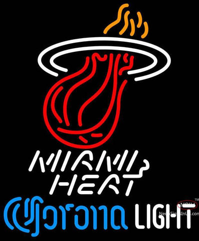 Corona Light Neon Logo Miami Heat NBA Neon Sign  7