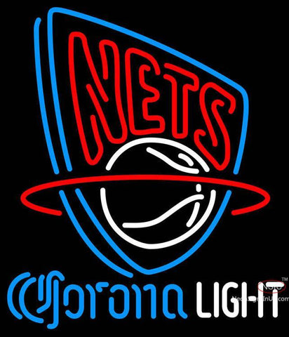 Corona Light Neon Logo New Jersey Nets NBA Neon Sign