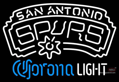 Corona Light Neon Logo San Antonio Spurs NBA Neon Sign