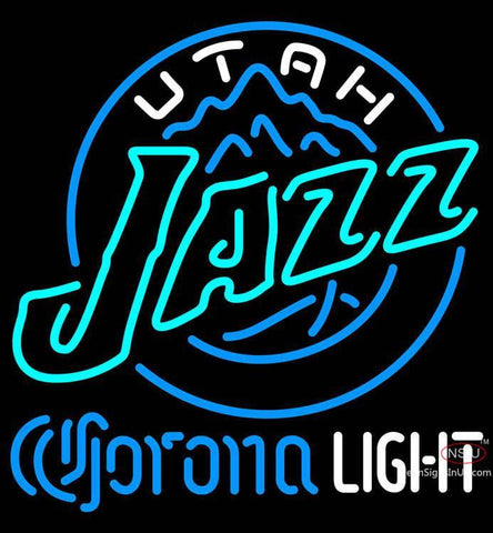 Corona Light Neon Logo Utah Jazz NBA Neon Sign