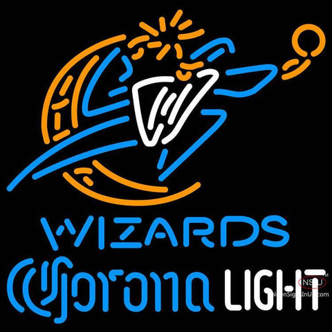 Corona Light Neon Logo Washington Wizards NBA Neon Sign