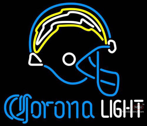 Corona Light Neon San Diego Chargers NFL Neon Sign