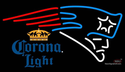 Corona Light New England Patriots NFL Neon Sign