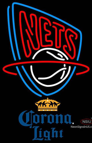 Corona Light New Jersey Nets NBA Neon Sign  7