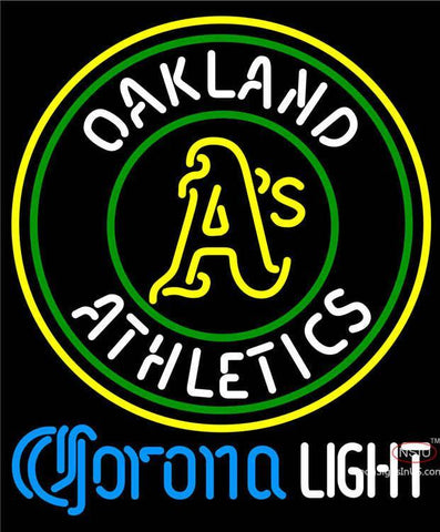 Corona Light Oakland Athletics MLB Neon Sign