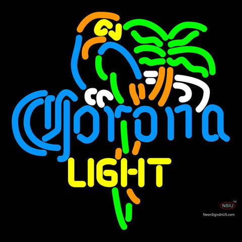 Corona Light Parrot Palm Tree Neon Beer Sign x