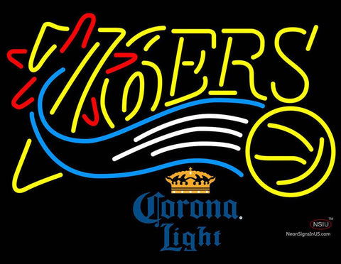 Corona Light Philadelphia 7ers NBA Neon Sign  7