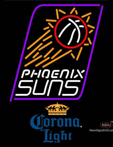 Corona Light Phoenix Suns NBA Neon Sign  7