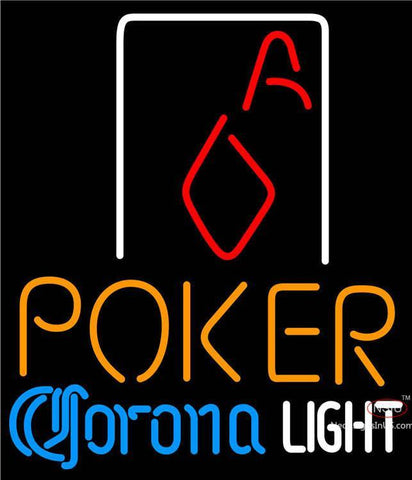 Corona Light Poker Squver Ace Neon Sign