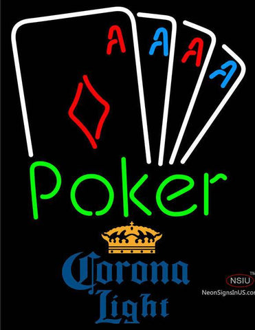 Corona Light Poker Tournament Neon Sign
