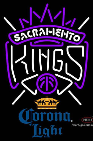 Corona Light Sacramento Kings NBA Neon Sign  7