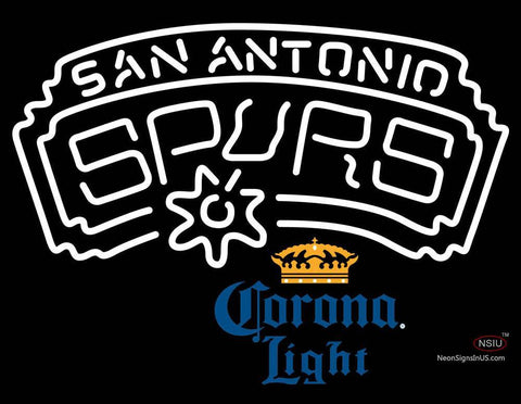 Corona Light San Antonio Spurs NBA Neon Sign  7