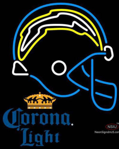 Corona Light San Diego Chargers NFL Neon Sign