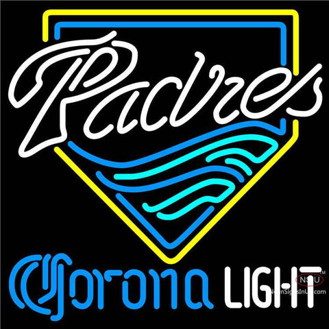Corona Light San Diego Padres MLB Neon Sign
