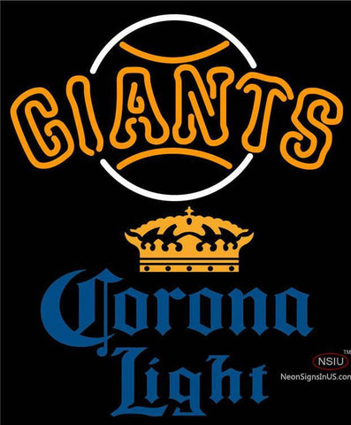 Corona Light San Francisco Giants MLB Neon Sign