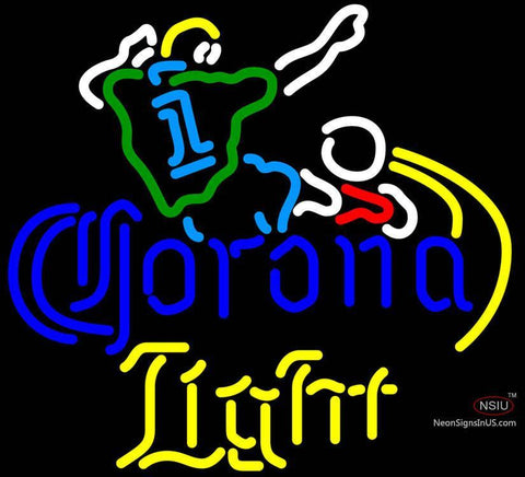Corona Light Soccer Neon Beer Sign