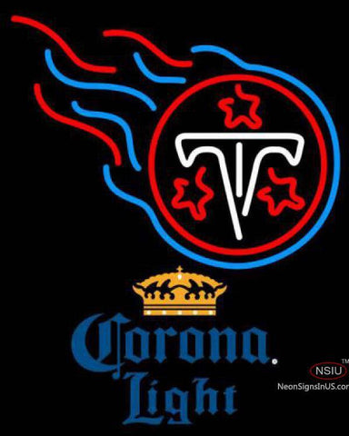 Corona Light Tennessee Titans NFL Neon Sign