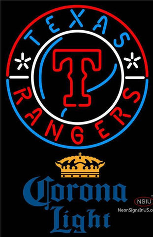 Corona Light Texas Rangers MLB Neon Signs