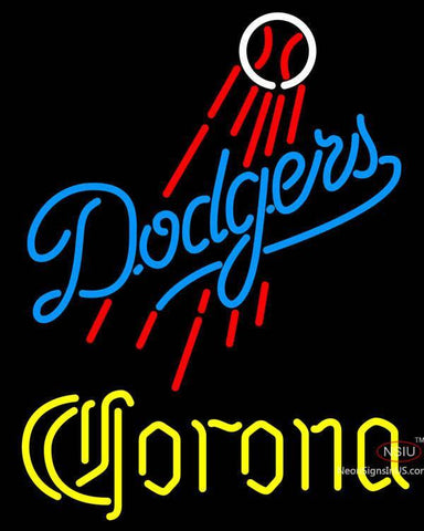 Corona Los Angeles Dodgers MLB Neon Sign
