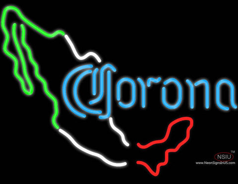 Corona Mexico Map Neon Beer Sign