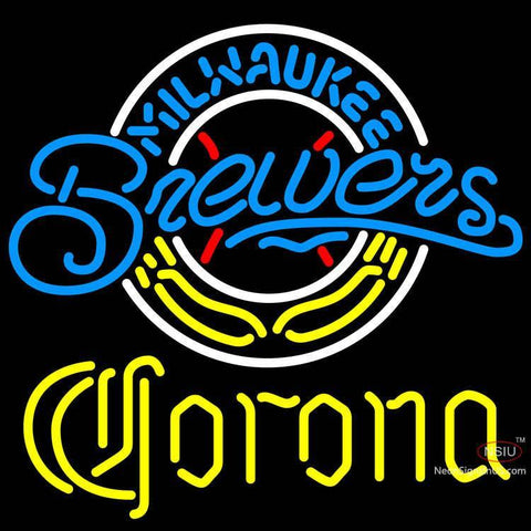 Corona Milwaukee Brewers MLB Neon Sign
