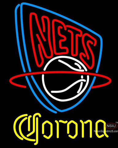 Corona New Jersey Nets NBA Neon Sign