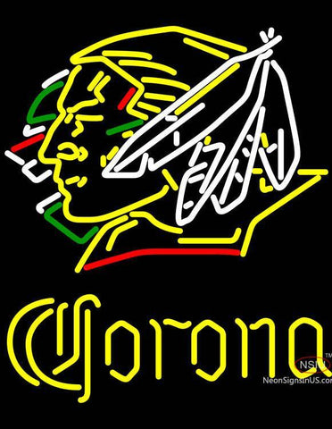 Corona North Dakota Fighting Sioux Hockey Neon Sign