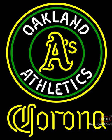 Corona Oakland Athletics MLB Neon Sign