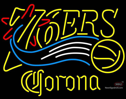 Corona Philadelphia 7ers NBA Neon Sign