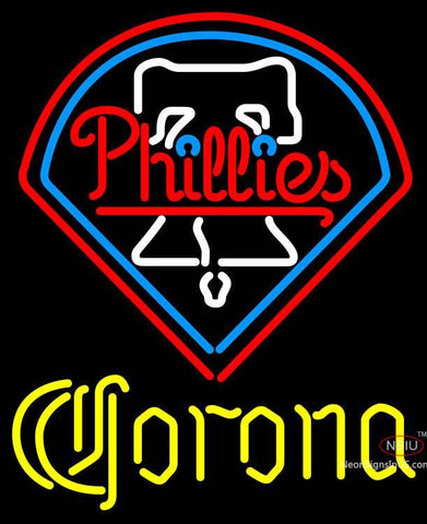 Corona Philadelphia Phillies MLB Neon Sign
