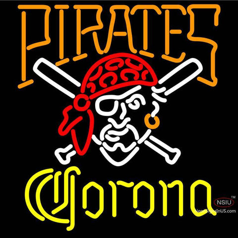 Corona Pittsburgh Pirates MLB Neon Sign