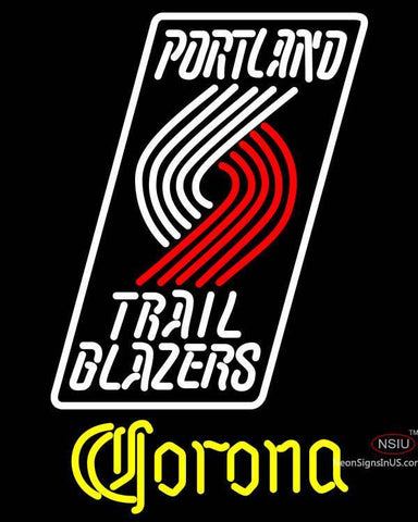 Corona Portland Trail Blazers NBA Neon Sign