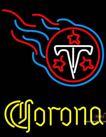 Corona Tennessee Titans NFL Neon Sign