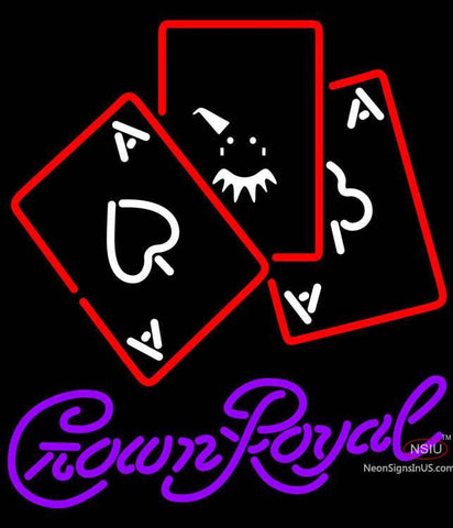 Crown Royal Ace And Poker Neon Sign