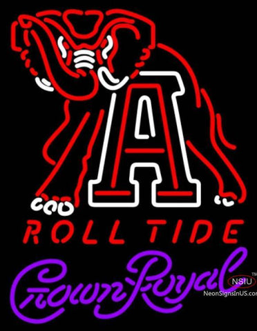 Crown Royal Alabama Roll Tide UNIVERSITY Neon Sign  7