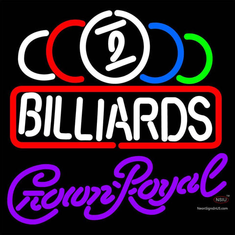 Crown Royal Ball Billiards Text Pool Neon Sign   x
