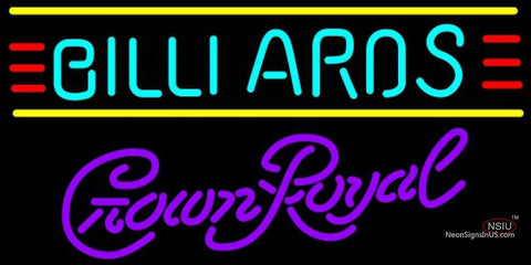 Crown Royal Billiards Text Borders Pool Neon Sign  7