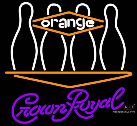 Crown Royal Bowling Orange Neon Sign