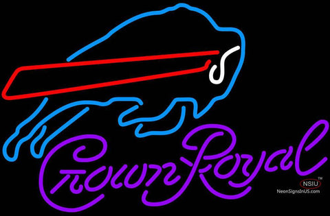 Crown Royal Buffalo Bills NFL Neon Sign