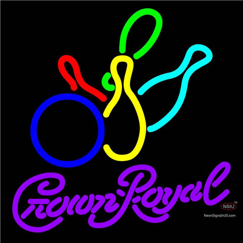 Crown Royal Colored Bowlings Neon Sign   x
