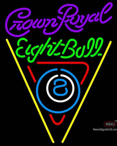 Crown Royal Eight Ball Billiards Pool Neon Sign