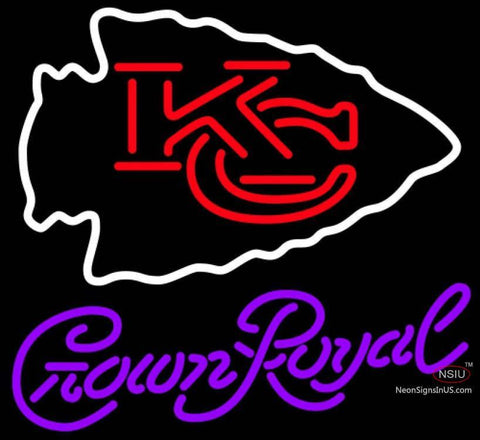 Crown Royal Kansas City Chiefs NFL Neon Sign   x