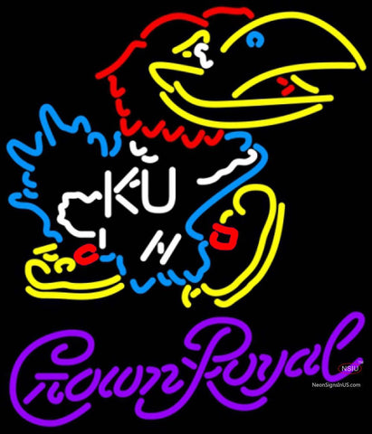 Crown Royal Kansas Jayhawks Logo UNIVERSITY Neon Sign