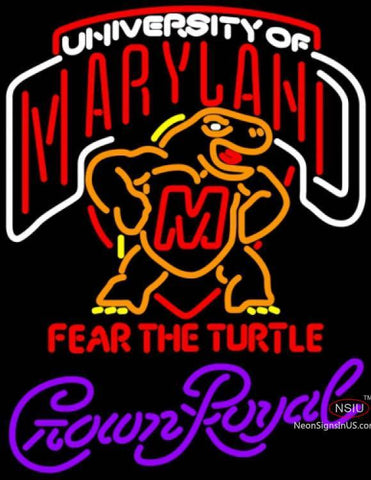 Crown Royal Maryland Turtle UNIVERSITY Neon Sign  7