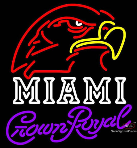 Crown Royal Miami UNIVERSITY Fall Session Neon Sign