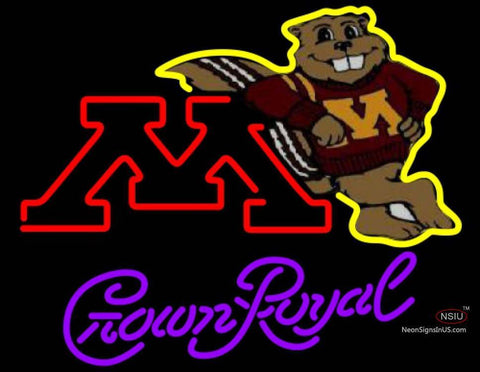 Crown Royal Minnesota Golden Gophers UNIVERSITY Neon Sign